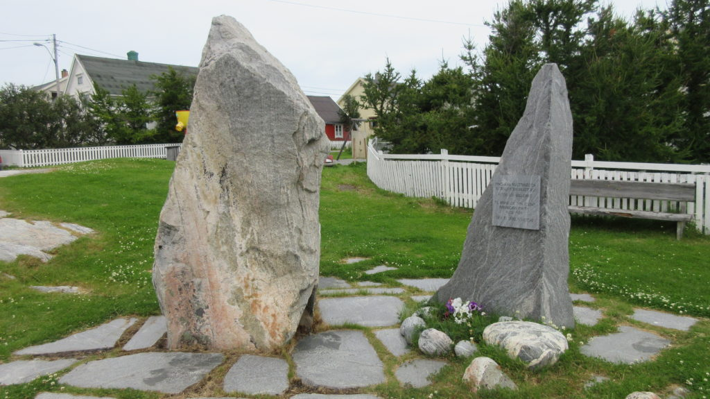 Memorial of the Finnish founders of the village