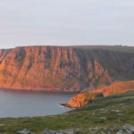 A better view of North Cape enlightened by the sunset