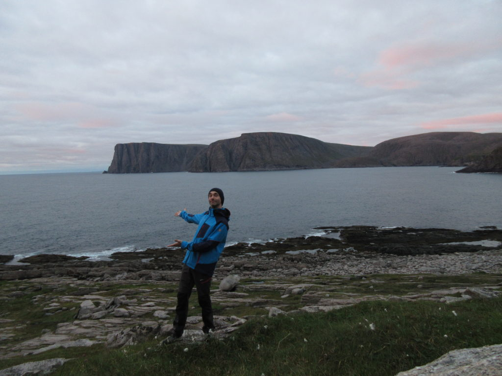 Yeah, just behind me, a bit farther south, stands North Cape