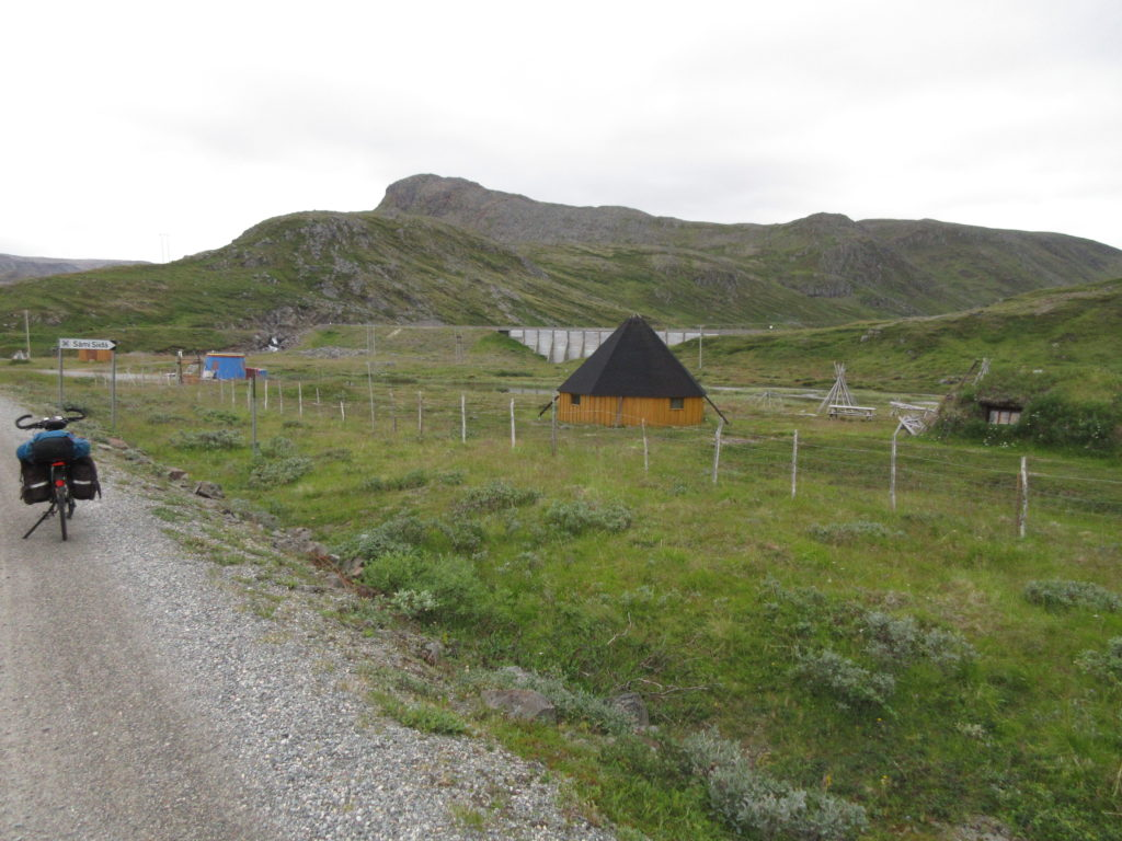 Reconstruction of a Sámi village
