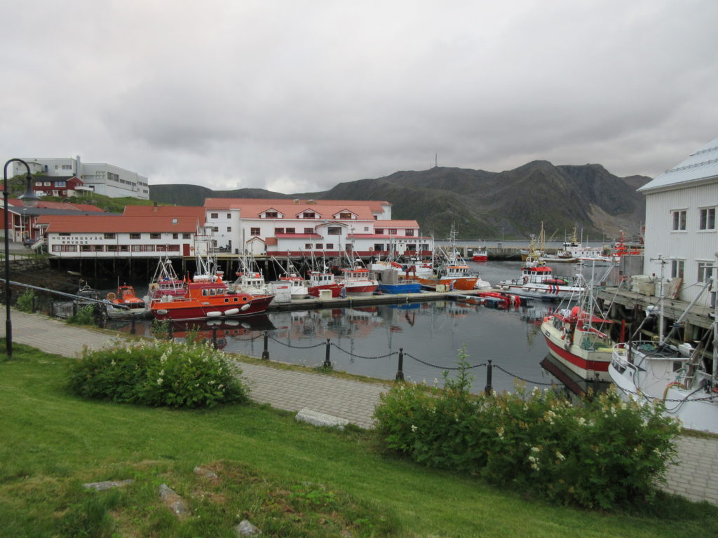 The tourist harbour of Honningsvåg