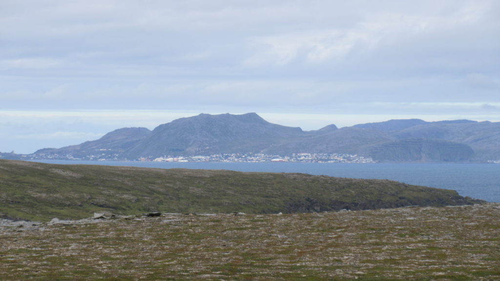 The village of Honningsvåg from mainland