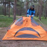 You need skills to build a tent surrounded by mosquitoes!