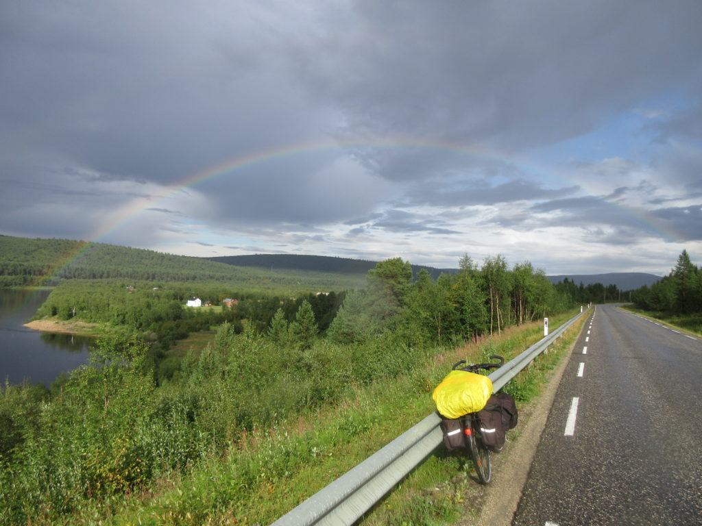 An appropriate rainbow welcoming me back to Finland