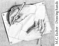 Escher's hands