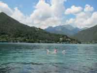 Swimming in Lago di Ledro