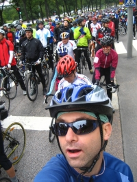 The crowd behind me at the start