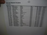The list of arrivals (page including my time)
