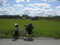 Blue sky of Lapland