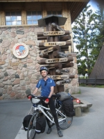 Classic picture at the Arctic Circle