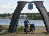 Arctic Ocean snowmobile route