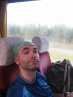 Relaxing in the bus from Tornio to Oulu