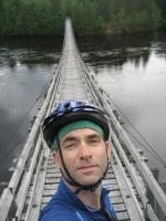 The Ahmaskoski suspension bridge