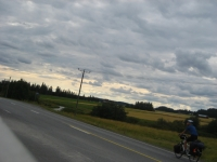 Cycling in the countryside towards Yläne
