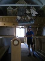 Indoor view of the church of Kustavi