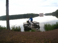 Platform for rug washing at the lake in Ruotsinpyhtää