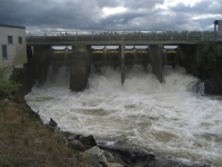 Pouring dam before Kautokeino