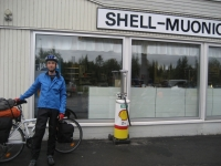 The historical Shell gas station at Muonio