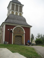 The bell tower of Övertorneå church