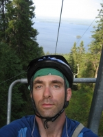 On the lift to the top of Ukko-Koli
